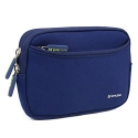 Evecase Universal Portable Case Bag Cover with Extra Front Pocket for Garmin nüvi 2595LMT 5-Inch Portable Bluetooth GPS Navigator with Lifetime Maps and Traffic - Dark Blue